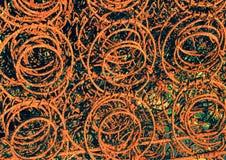 Ржавые старые весны кровати Стоковое Изображение RF