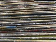 Ржавые старые трубы для строя ремонтины Стоковое Фото