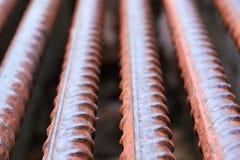 Ржавые стальные пруты предпосылки Стоковые Изображения