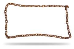 Ржавые цепи изолированные на белой предпосылке стоковая фотография