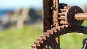 Ржавые cogwheels Стоковые Изображения RF