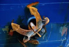 Ржавый анкер Стоковая Фотография RF