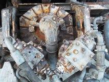 Ржавый двигатель для промышленной установки Стоковая Фотография