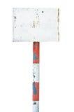Ржавый заржаветый постаретый signage доски знака металла Стоковая Фотография RF