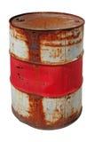 Ржавый изолированный бочонок Стоковые Фотографии RF