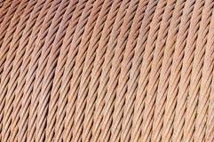 Ржавый кабель на вьюрке Стоковые Фото