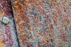 Ржавый конец стали вверх по текстуре Стоковое фото RF