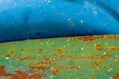 Ржавый конец стали вверх по текстуре Стоковая Фотография RF