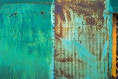 Ржавый конец стали вверх по текстуре Стоковое Изображение
