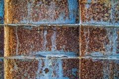 Ржавый конец стали вверх по текстуре Стоковое Изображение RF