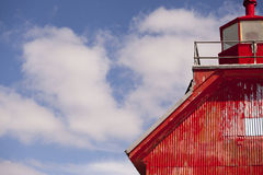 Ржавый красный маяк Стоковые Фотографии RF