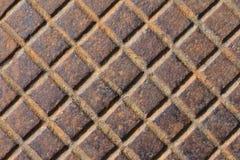 Ржавый люк текстуры стоковое фото rf