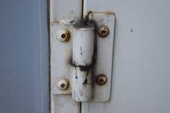 Ржавый металлический шарнир двери Стоковое Фото