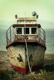 Ржавый пароход стоковая фотография rf