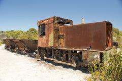 Ржавый поезд Стоковая Фотография