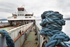 Ржавый покинутый корабль Стоковые Изображения RF
