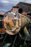 Ржавый покинутый локомотив пара Стоковая Фотография RF