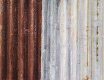 Ржавый цинк как резюмированная предпосылка Стоковые Фото
