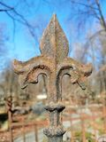 Ржавый элемент старой загородки стоковая фотография rf