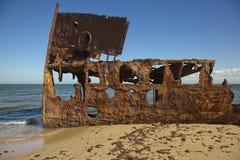 Ржавым стальным поверхность текстурированная кораблекрушением Стоковое Изображение