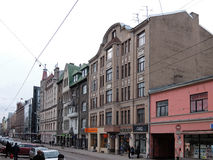 Рига, исторический квартал на улице Terbatas стоковое фото rf