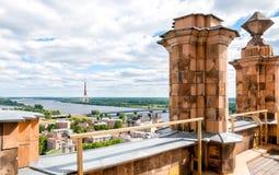 Рига, Латвия, городской пейзаж от академии наук Стоковое Изображение RF