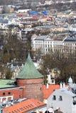 Рига, Латвия, 27-ое марта 2018 Башня порошка стоковое фото rf