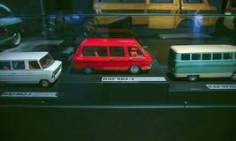 РИГА, ЛАТВИЯ - 16-ОЕ ОКТЯБРЯ: Ретро музей мотора Риги автомобиля, 16-ое октября 2016 в Риге, Латвии Стоковое Изображение