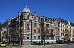 Рига, пересечение Elizabetes и Ausekla, квартал в стиле Nouveau искусства стоковое изображение rf