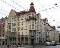 Рига, улица Aleksandra Caka 55, исторические здания Стоковое Изображение