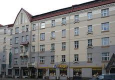 Рига, улица Aleksandra Caka 55, исторические здания Стоковое Фото