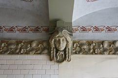 Рига, улица Blaumanja 11-13, исторические здания, оформление стоковое фото rf