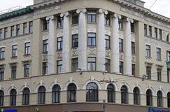 Рига, улица 38 Elizabetes, эклектичная, поляк Эрнеста архитектора, детали фасада стоковая фотография