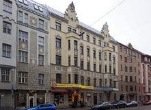 Рига, улица 41-45 Matisa, современная стоковые изображения rf