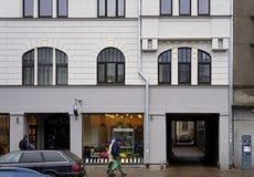 Рига, улица 27 Matisa, современная стоковое изображение