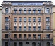 Рига, Bruninieku 4, здание Nouveau искусства стоковое фото rf