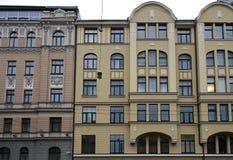 Рига, Bruninieku 2-4, квартал в стиле Nouveau искусства стоковая фотография rf