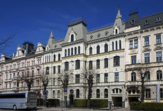 Рига, Elizabetes 15-17, исторические здания, посольский квартал стоковое фото rf