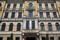 Рига, Elizabetes 3, фасад исторического здания стоковое изображение