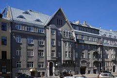 Рига, Rupniecibas 5, многоквартирный дом в стиле Nouveau искусства стоковое изображение rf