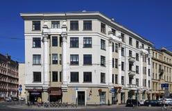 Рига, Strelnieku 1, историческое здание в стиле neoclassicism стоковые изображения rf
