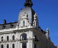 Рига, Vilandes 1, исторические здание с современными элементами и эклектичный, элементы фасада стоковые изображения rf