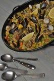 Ризотто еды с моллюском Стоковое Фото