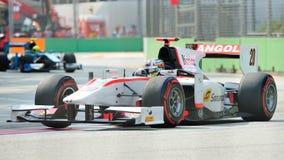 Рикардо Teixeira участвуя в гонке в Сингапур GP2 2012 Стоковые Фотографии RF