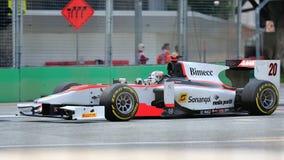 Рикардо Teixeira участвуя в гонке в Сингапур GP2 2012 Стоковые Изображения
