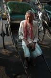 рикша водителя стоковое изображение