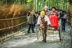 Рикша в Киото стоковое изображение rf