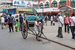 Рикша в Kolkata, Индии стоковое фото