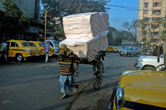 Рикша в Kolkata стоковое фото