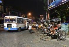 Рикша в Kolkata стоковое изображение